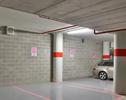 Secure parking close to the entrance of the Hotel for our guests.