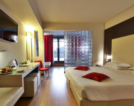 Junior Suite Best Western Plus Hotel Galileo Padova. This spacious and bright room with large terrace.