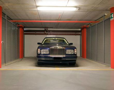 The garage supercar for luxury car at Hotel Galileo in Padua