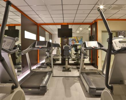 Fitness Area in the Hotel Galileo free and open 24h