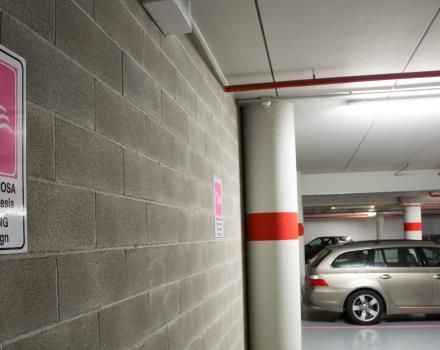 The Hotel Galileo Padova offers free garage parking to all its customers