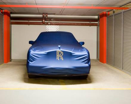 The garage supercar for luxury cars at the Hotel Galielo in Padua