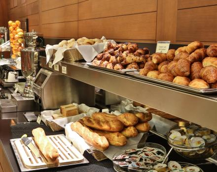 Rich breakfast at BW Plus Hotel Galileo