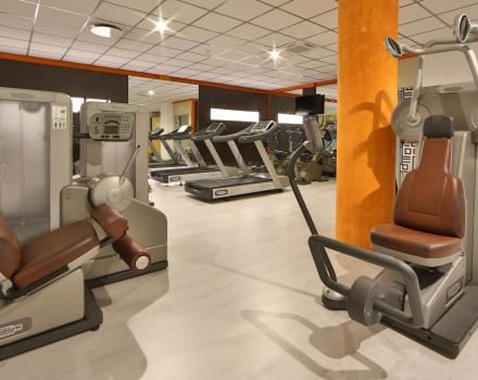 Fitness Area of the Hotel Galileo free open 24h.